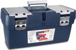 Ящик для инструментов синий, карман, металлические замки № 15, TAYG, 115004