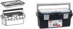 Ящик для инструментов, поддон + органайзер в крышке №400, TAYG, 162008