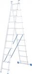 Лестница, 2 х 11 ступеней, алюминиевая, двухсекционная, СИБРТЕХ, 97911